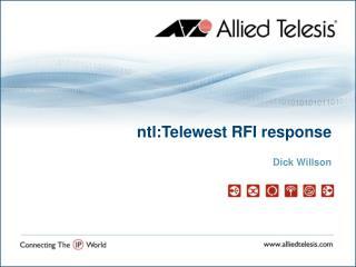 ntl:Telewest RFI response