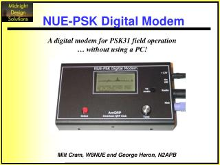 A digital modem for PSK31 field operation    without using a PC