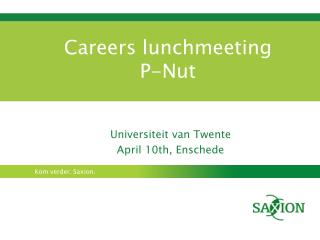 Careers lunchmeeting  P-Nut