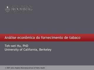 Análise econômica do fornecimento de tabaco