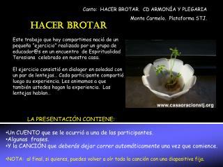 HACER BROTAR