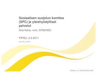 Sosiaalisen suojelun komitea (SPC) ja yleishyödylliset palvelut