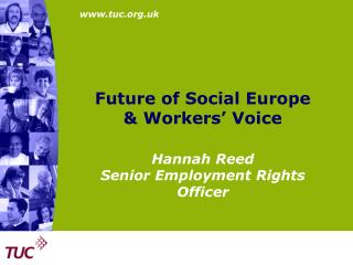 Future of Social Europe  & Workers' Voice