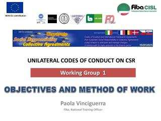 UNILATERAL CODES OF CONDUCT ON CSR