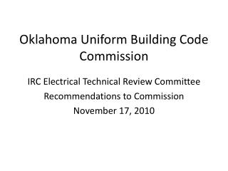 Oklahoma Uniform Building Code Commission