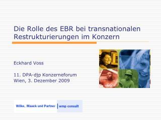 Die Rolle des EBR bei transnationalen Restrukturierungen im Konzern