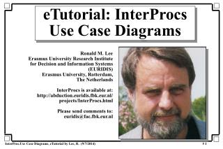 eTutorial: InterProcs Use Case Diagrams