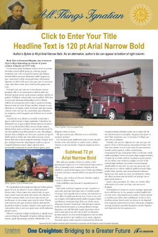 Click to Enter Your Title Headline Text is 120 pt Arial Narrow Bold