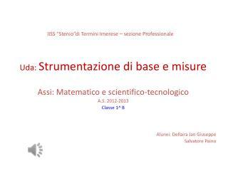 """IISS """"Stenio""""di Termini Imerese – sezione Professionale"""
