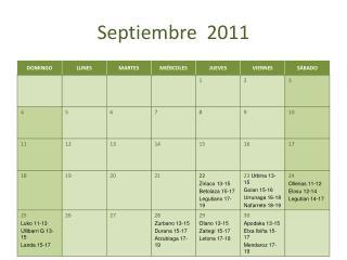 Septiembre  2011