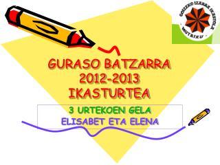 GURASO BATZARRA 2012-2013 IKASTURTEA