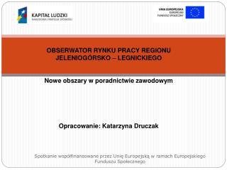 OBSERWATOR RYNKU PRACY REGIONU  JELENIOGÓRSKO – LEGNICKIEGO Nowe obszary w poradnictwie zawodowym