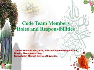 Code Team Members Roles and Responsibilities