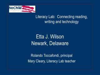 Etta J. Wilson Newark, Delaware