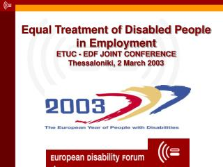 The Labour Market Situation of People with Disabilities in the EU (Eurostat EHCP1996)