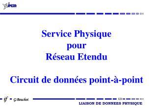 Service Physique pour Réseau Etendu Circuit de données point-à-point