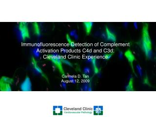 Immunofluorescence Detection of Complement Activation Products C4d and C3d: