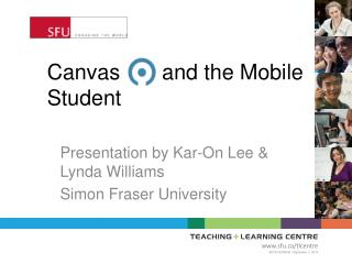 Canvas       and the Mobile Student