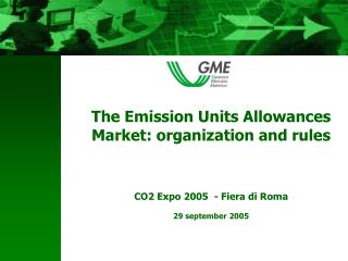 2. Market organized by GME