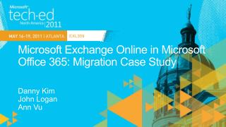Microsoft Exchange Online in Microsoft  Office 365: Migration Case Study