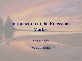 Introduction to the Emissions Market