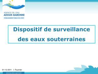 Dispositif de surveillance des eaux souterraines