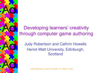 Developing learners' creativity through computer game authoring