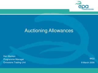 Auctioning Allowances