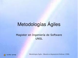 Metodologías Ágiles