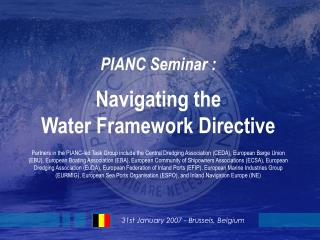 PIANC Seminar : Navigating the  Water Framework Directive