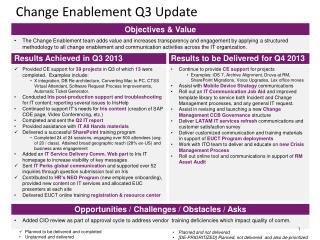 Change Enablement Q3 Update