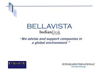 """  We advise and support companies in                     a global environment """