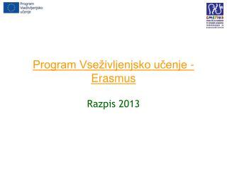 Program Vseživljenjsko učenje - Erasmus