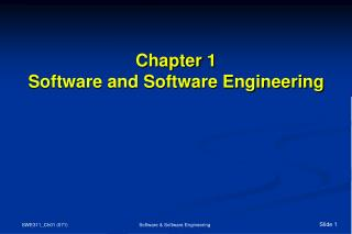 Chapter 1 Software and Software Engineering