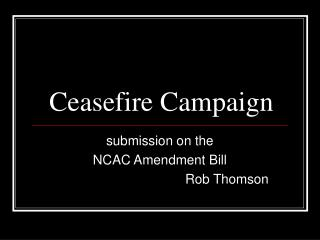 Ceasefire Campaign
