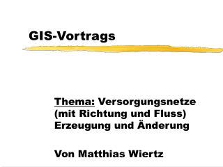 GIS-Vortrags