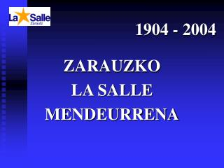 1904 - 2004