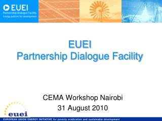 EUEI  Partnership Dialogue Facility