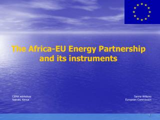 The Africa-EU Energy Partnership  and its instruments