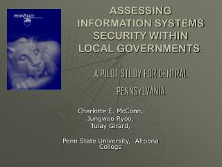 Charlotte E. McConn,  Jungwoo Ryoo,  Tulay Girard,  Penn State University,  Altoona College