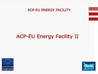 ACP-EU Energy Facility II