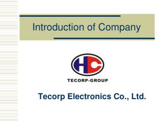 Introduction of Company