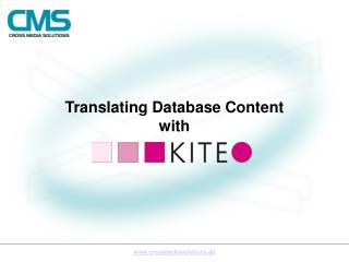 Translating Database Content  with