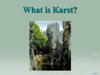 What is Karst