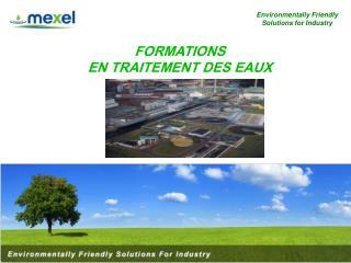 FORMATIONS EN TRAITEMENT DES EAUX