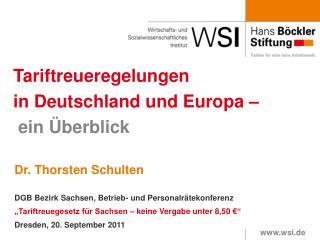 Tariftreueregelungen  in Deutschland und Europa �  ein �berblick