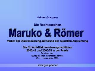 Seminar der  Europäischen Rechtsakademie       10.-11. November 2009