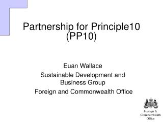 Partnership for Principle10 (PP10)