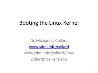 Booting the Linux Kernel