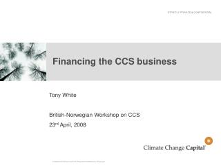 Financing the CCS business